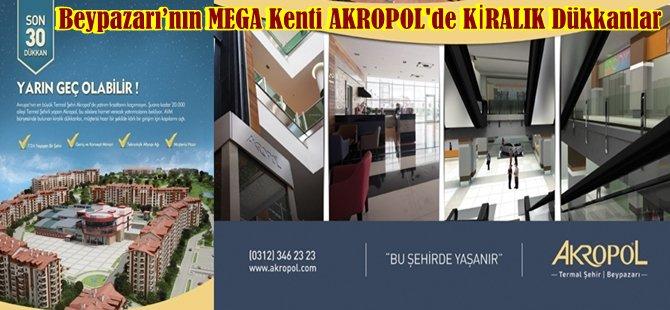 Beypazarı'nın MEGA Kenti AKROPOL'de KİRALIK Dükkanlar
