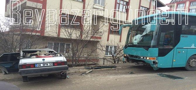 Beypazarı; Hastane Yolunda Trafik Kazası 3 Yaralı...