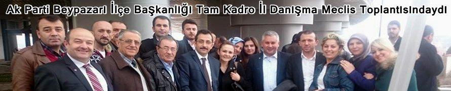 Ak Parti Beypazarı İlçe Başkanlığı Tam Kadro İl Danışma Meclis Toplantısındaydı