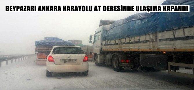 Beyapazarı Ankara Karayolu At Deresinde Tamamen Durdu