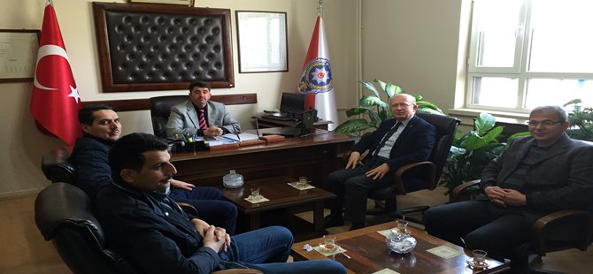 BTO Yönetim Kurulu Üyeleri Beypazarı Emniyet Müdürünü Ziyaret Ettiler