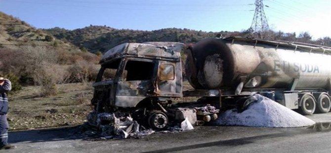 Beypazarı'ndan Yola Çıkan Soda Yüklü Tanker Yandı Kül Oldu
