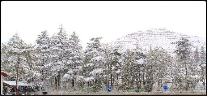 Kar yağışı Beypazarı İlçe merkezi ile yüksek kesimlerde etkisini sürdürüyor