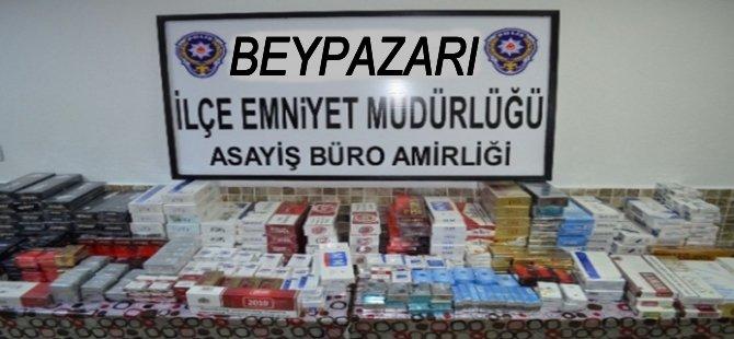 Beypazarı Polisi 4 Bin 100 Paket Kaçak Sigara Ele Geçirdi