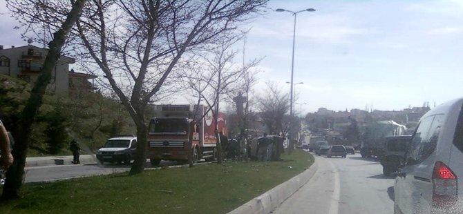 Beypazarı; Ayvaşık, İnözü Kavşağında Trafik Kazası 2 kişi yaralı