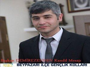 Ak Parti Gençlik Kolları Başkanı Hüseyin Demirezen'in Kandil mesajı