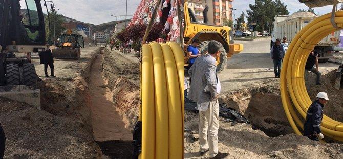 Beypazarı Belediye Başkanlığı Doğalgazda İlk şehir içi çalışmayı başlattı