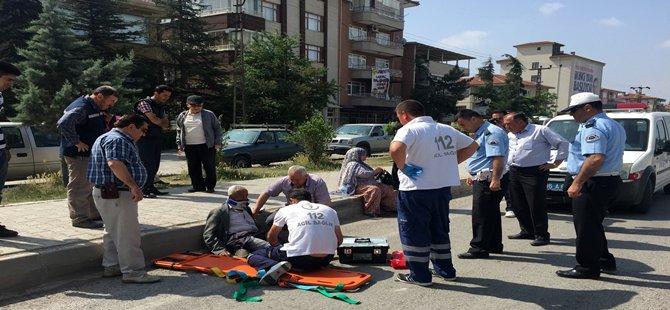 Beypazarı'nda Motorsiklet Kazası 1 ağır olmak üzere 2 kişi yaralandı