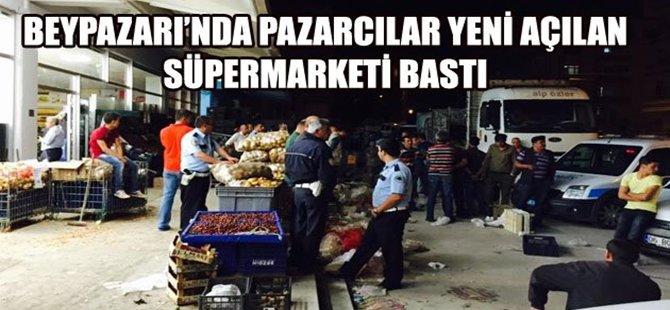 Beypazarı'nda Pazarcılar Süpermarketi Bastı