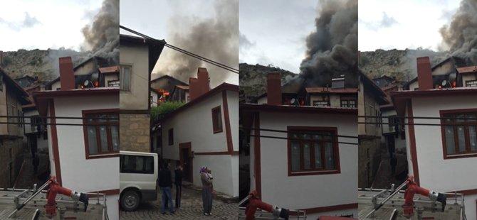 Beypazarı Pirinç Mahallesinde Yangın; 1 Ev Yandı