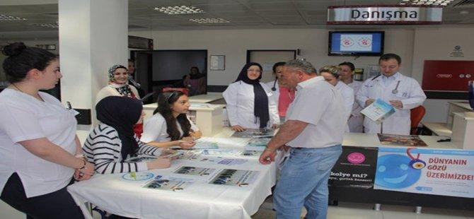 """Beypazarı Devlet Hastanesinde """"Dünya Tütünsüz Günü"""" Tiryakiler Bilgilendirildi"""