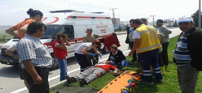 Beypazarı; Oguzkent Yolunda Tarfik Kazası 1 Yaralı