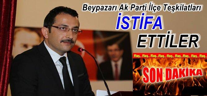 Beypazarı Ak Parti İlçe Teşkilatları Komple İstifa Ettiler…..