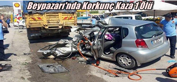 Beypazarı'nda Korkunç Trafik Kazası  1 Ölü...