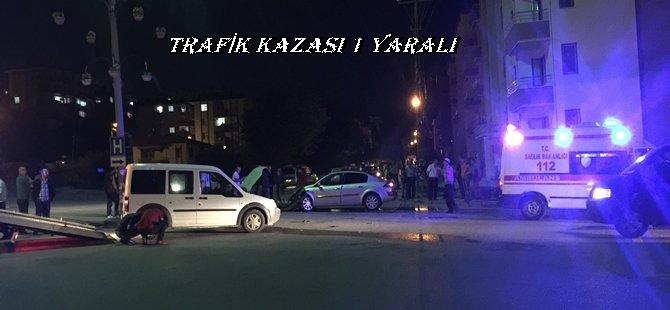 Beypazarı Hastane Yolu Avlu Bostanlar Kavşagında Kaza 1 Yaralı