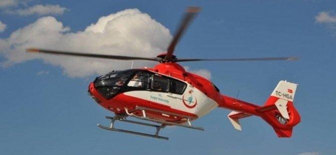 Beypazarı'nda Kalp Krizi Geçiren Genç, Ambulans Helikopterle Hastaneye Kaldırıldı