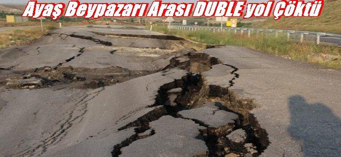 Ayaş Beypazarı Arası DUBLE Yol Çöktü...