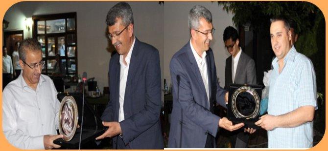 Beypazarı Kaymakamı Mustafa Kaya ve Sulh Ceza Hakimi Gökhan Turhan'a Veda Yemeği