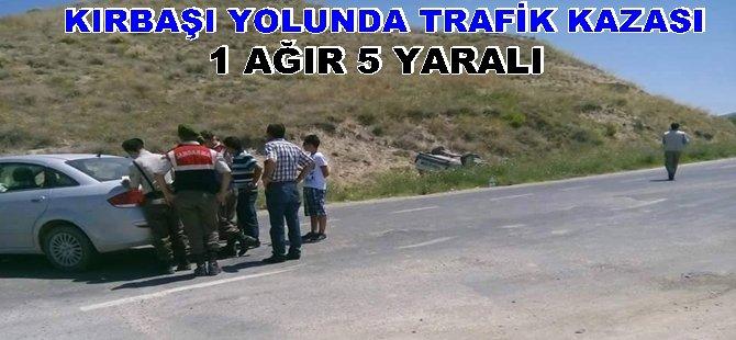 Beypazarı Kırbaşı Yolunda Trafik Kazası 1 Ağır 5 Kişi Yaralı...
