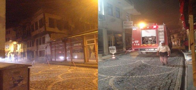 Beypazarı Eski Hükümet Caddesindeki Harabe Binada Yangın