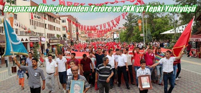 Beypazarı Ülkücü'lerinden Teröre ve PKK ya Tepki Yürüyüşü