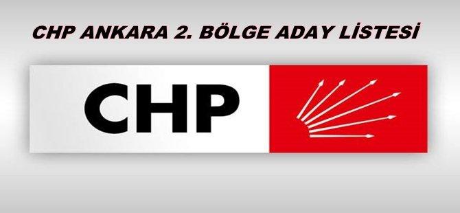 CHP ANKARA 2. BÖLGE ADAY LİSTESİ