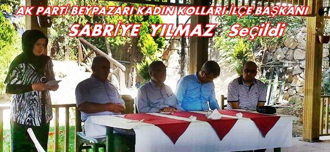 Ak Parti Beypazarı Kadın Kolları Başkanlığına Sabriye YILMAZ Seçildi