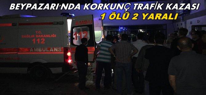 Beypazarı'nı Yasa Boğan Trafik  kazasi 1ölü 2 yaralı (Oymaağaçlı Almancı Mustafa KOÇAK Vefat Etti)