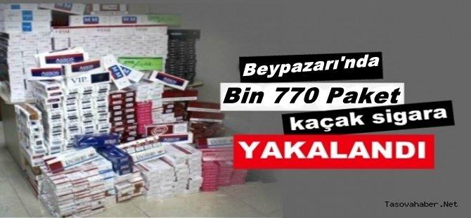 Beypazarı'nda 1770 Paket Kaçak Sigara Ele Geçirildi