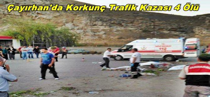 Çayırhan'da Korkunç Trafik Kazası 4 Kişi Hayatını Kaybetti...