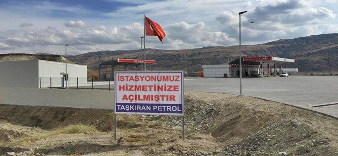 BEYPAZARI KIRBAŞI YOLUNDA, BİR BENZİNLİK DAHA HİZMETE GİRDİ '' TAŞKIRAN PETROL''