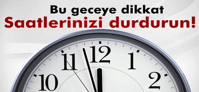 DİKKAT..! Dünya Saatleri Geri Alacak Ama Türkiye Durduracak