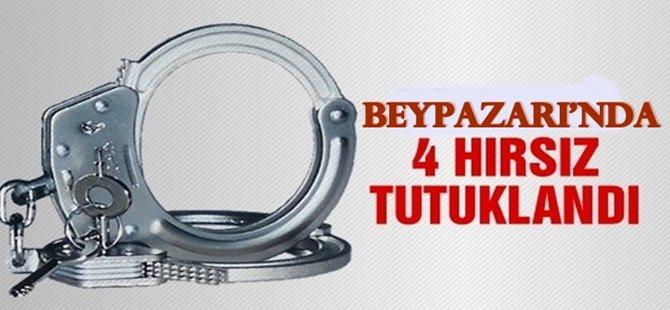 Beypazarı'nda 4 kişi Hırsızlık Suçundan tutuklandı