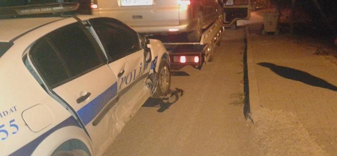 Beypazarı'nda Polis Aracı Kaza Yaptı 1 Yaralı