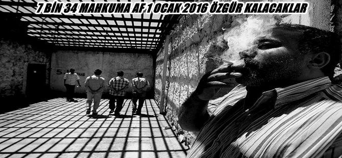 FLAŞ .. 7 BİN 34 MAHKUMA AF 1 OCAK 2016 ÖZGÜR KALACAKLAR
