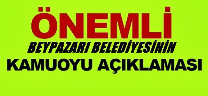 DİKKAT...! Beypazarı Belediyesinin TOKİ Hakkında Kamuoyu Açıklaması
