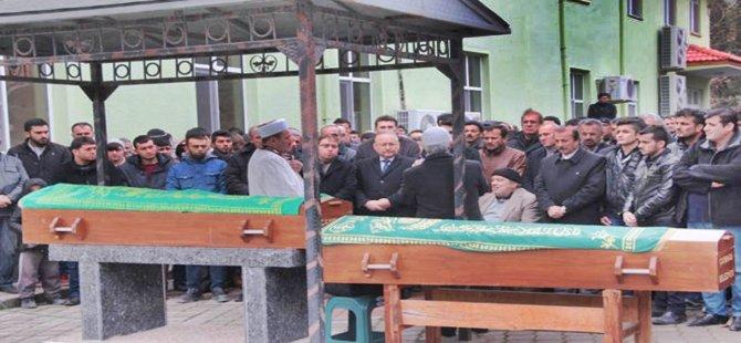 Çayırhan'da Sobadan Zehirlenen Baba Oğul Yan Yana Defin Edildi