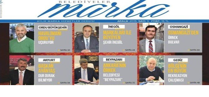 ''BEYPAZARI''Marka Belediyeler Dergisinde