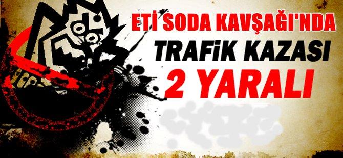 Beypazarı  Eti Soda Kavşağı'nda Trafik Kazası 2 Yaralı