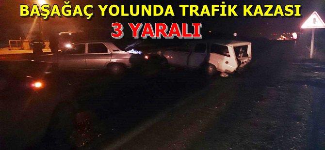 Beypazarı Başağaç Yolunda Trafik Kazası, 3 Yaralı