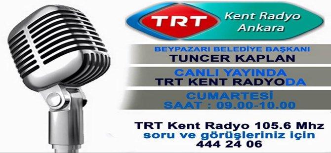 Başkan KAPLAN 6 Şubat 2016 Cumartesi günü sabah saat 09.00-10.00 arasında TRT Kent Radyo'da Canlı Yayında