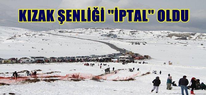 BEYPAZARI '' KIZAK '' ŞENLİKLERİ İPTAL EDİLDİ