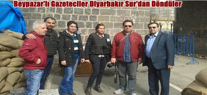 Beypazar'lı Gazeteciler Diyarbakır Sur'dan Döndüler