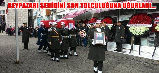Beypazarılı ŞEHİDİMİZ Üsteğmen Mehmet ÇİFTÇİ'yi Beypazarı Son Yolculuğuna Uğurlandı