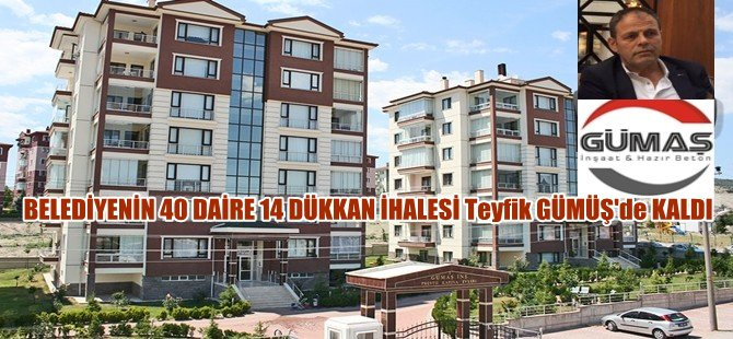 Beypazarı Belediyesinin 40 Daire 14 Dükkan İhalesi Teyfik Gümüş'de Kaldı