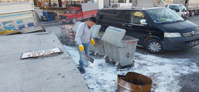 Beypazarı'nda Çöp Alanlarına Dezenfeksiyon Yapılıyor