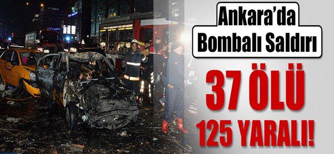 Ankara Kızılay'da Büyük Patlama... Onlarca Ölü Var...