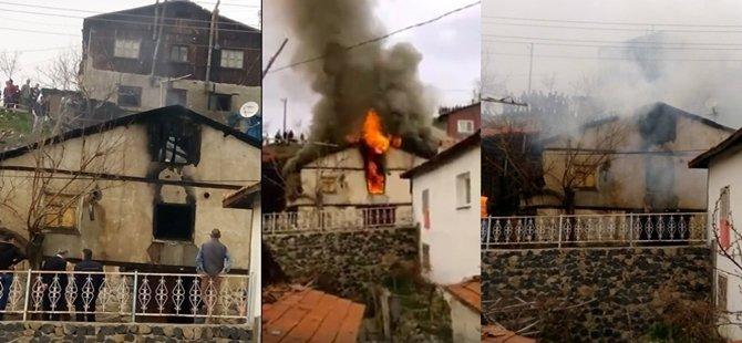 Beypazarı Zafer Mahallesinde Yangın Paniği