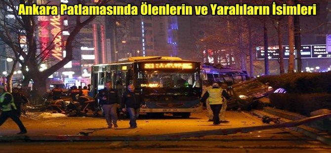 Ankara Patlamasında Ölenlerin ve Yaralıların İsimleri