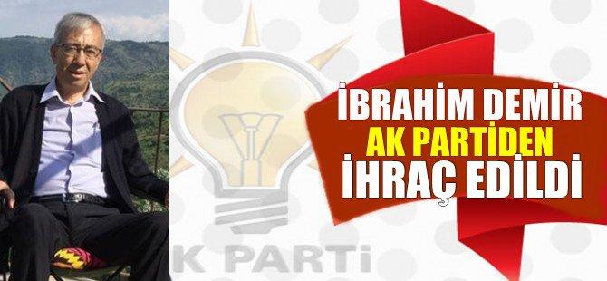 3 Dönem Beypazarı Belediye Başkanlığı Yapan Ak Parti Meclis Üyesi İbrahim DEMİR Partisinden İhraç Edildi